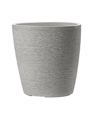 Esteras; natural elements; Apiti 40 cream white; soft grey; grau; Stuktura; 800562; Schicht-Struktur; Pflanztopf; Dreieck