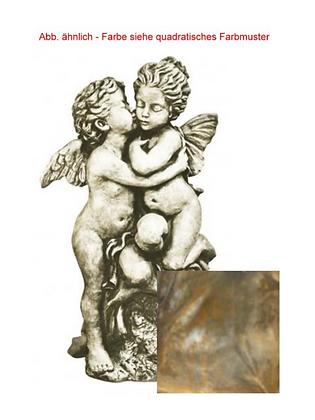 Skulpturduett; Der erste Kuss; Vidroflor; Rosteffekt; Steinguss; 114502R