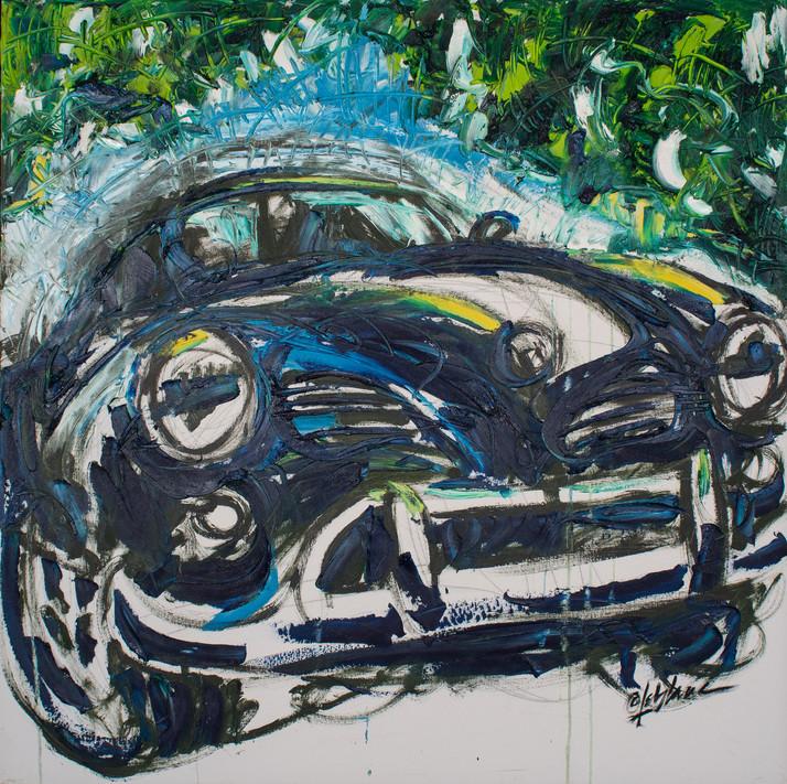 Karmann Ghia Bleu
