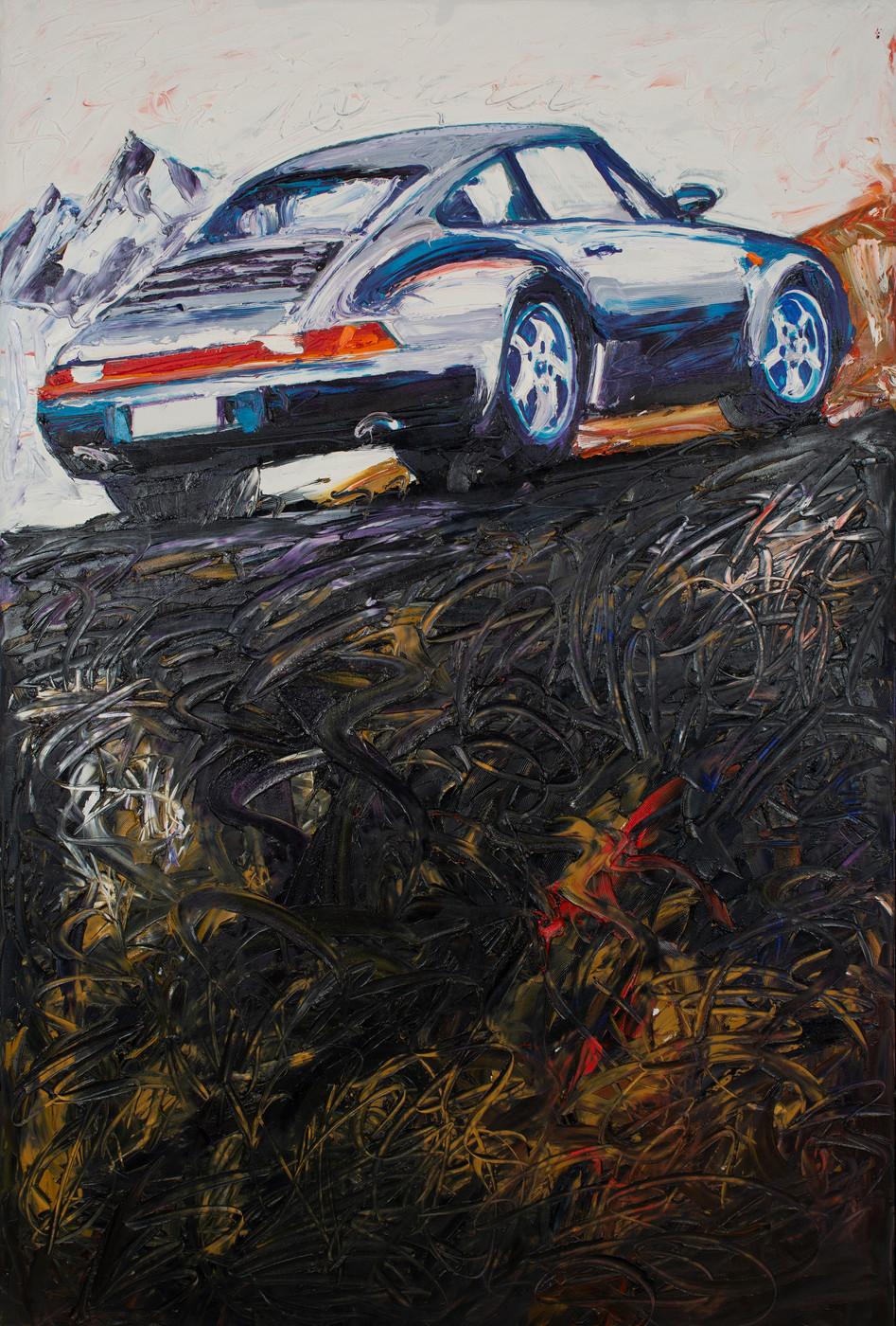 Porsche en montagne