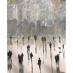 Impressionistic and abstract Figure