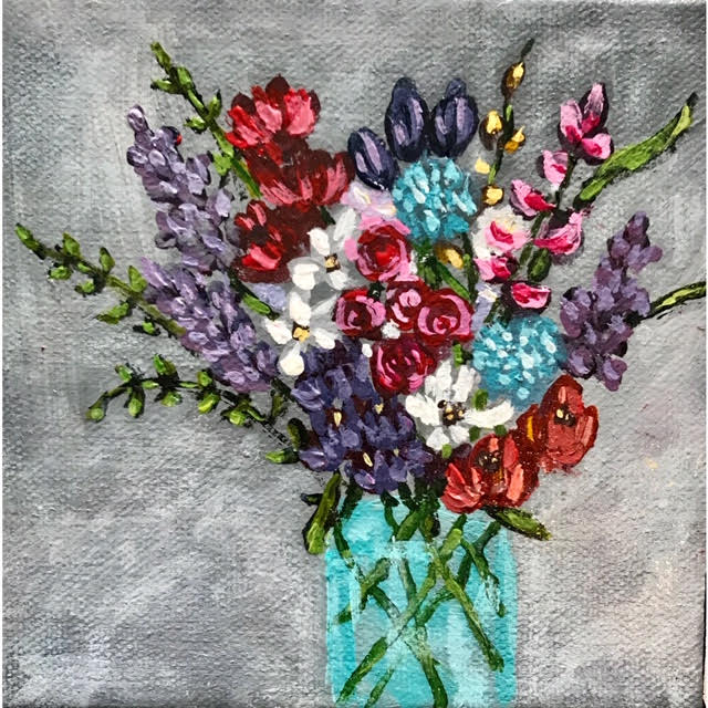 Impressionistic floral paintings