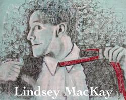 mixed media portrait painting