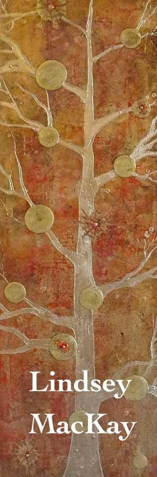 abstract gold leaf painting tree