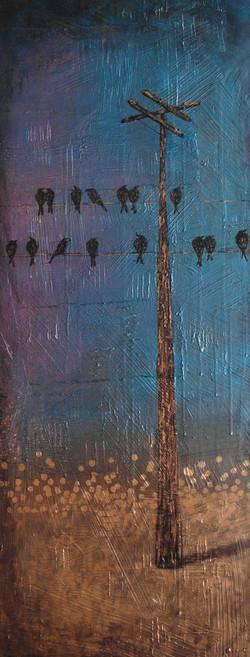 crow blackbird art painting