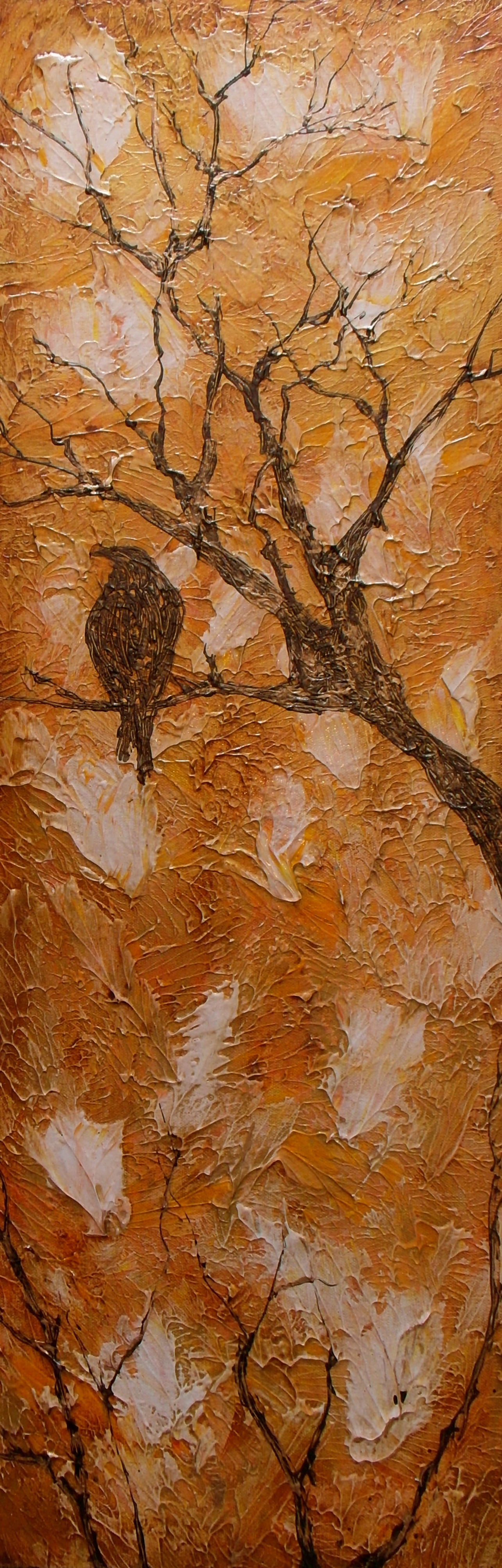 crow tree painting wall art