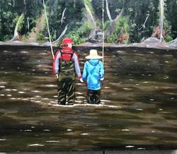 people, acrylic, painting