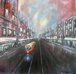 Cityscape, Streetcar, Downtown