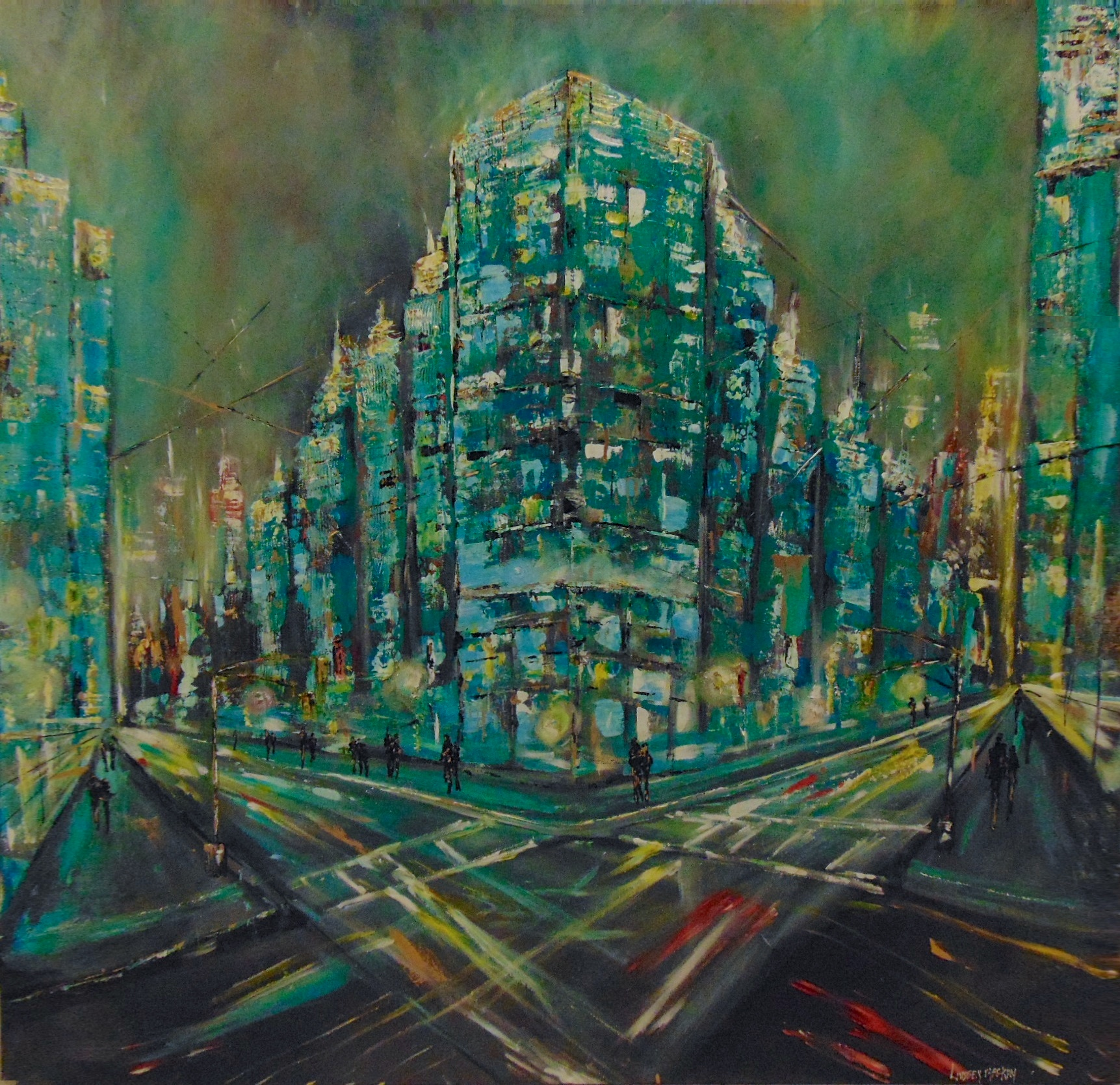 Cityscape painting, Abstract