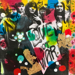 people, portrait,colour, mixed media
