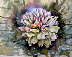 watercolor floral painting flower