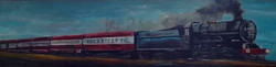 abstract train painting steam engine