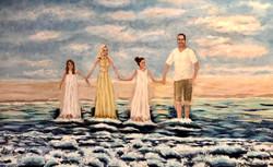 portrait, people, water, family