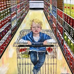 Acrylic Painting, emotion, children