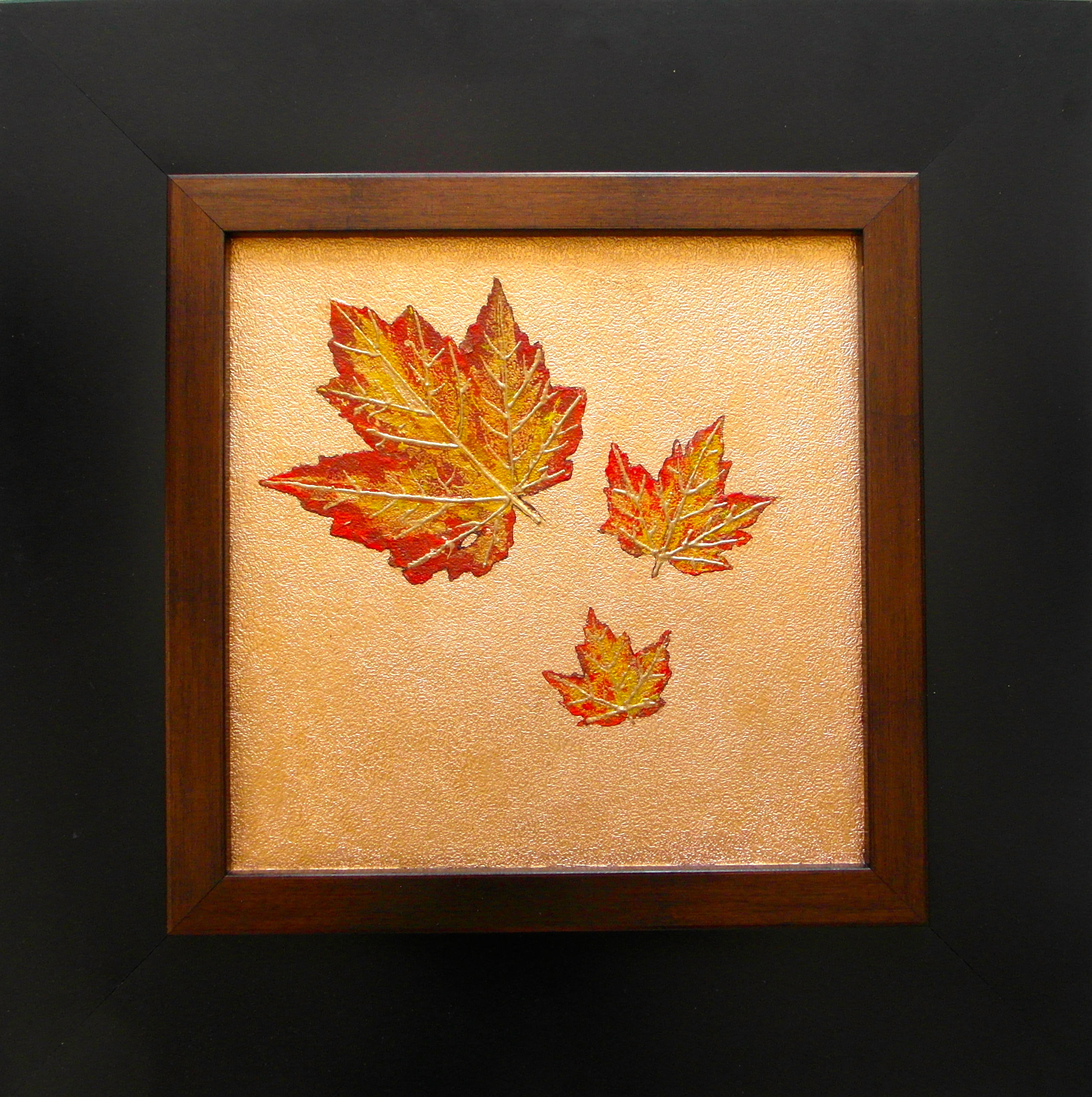 autumn leaf painting gold leaf