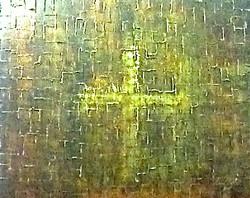 metallic abstract painting