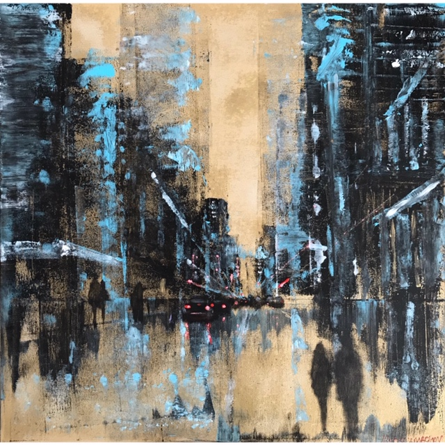 cityscape painting,acrylic painting,