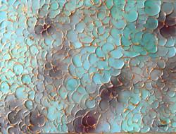 textured art petal painting