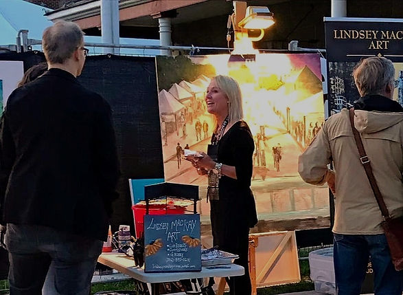 Lindsey MacKay Live Painting
