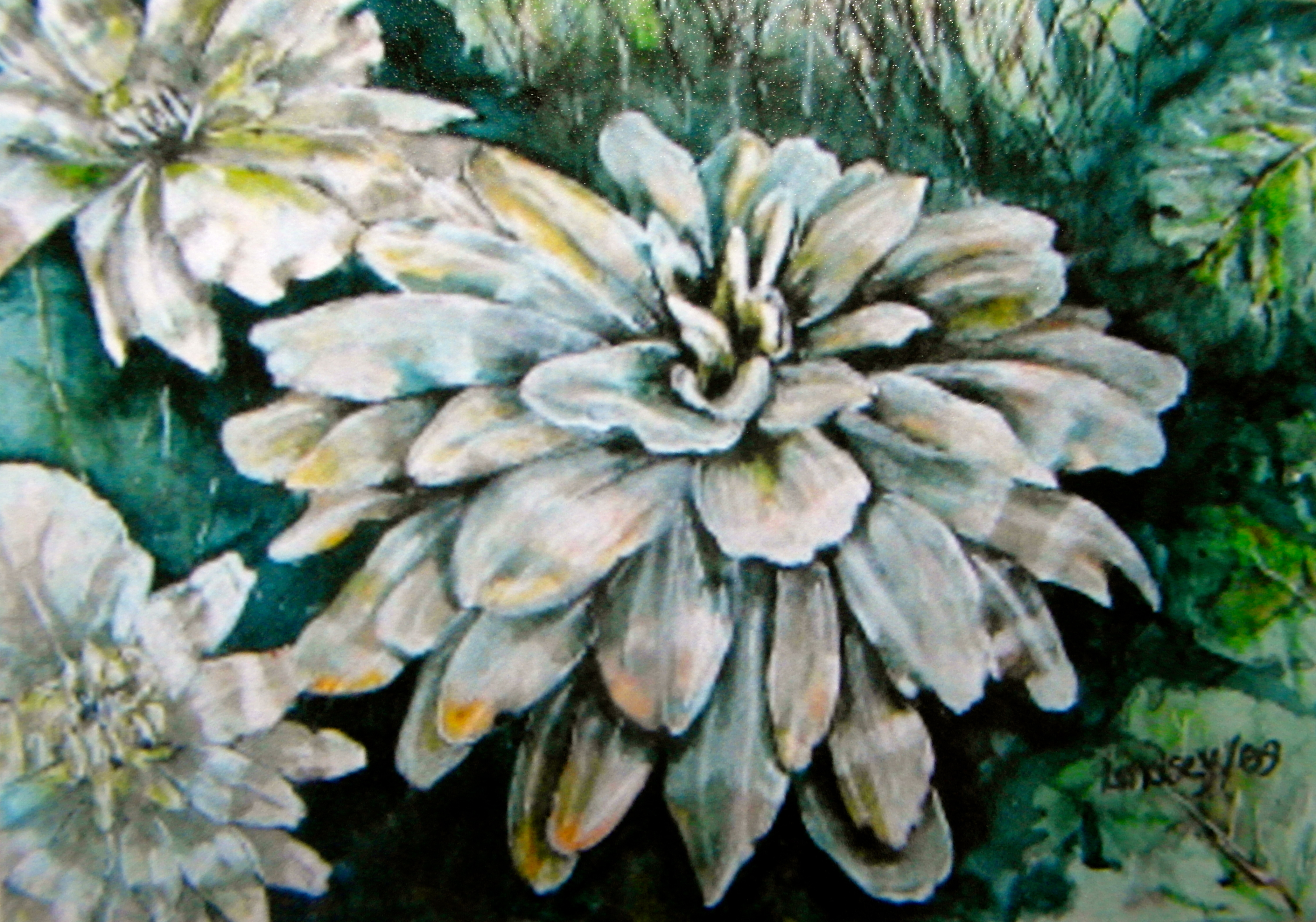 watercolour floral painting flower
