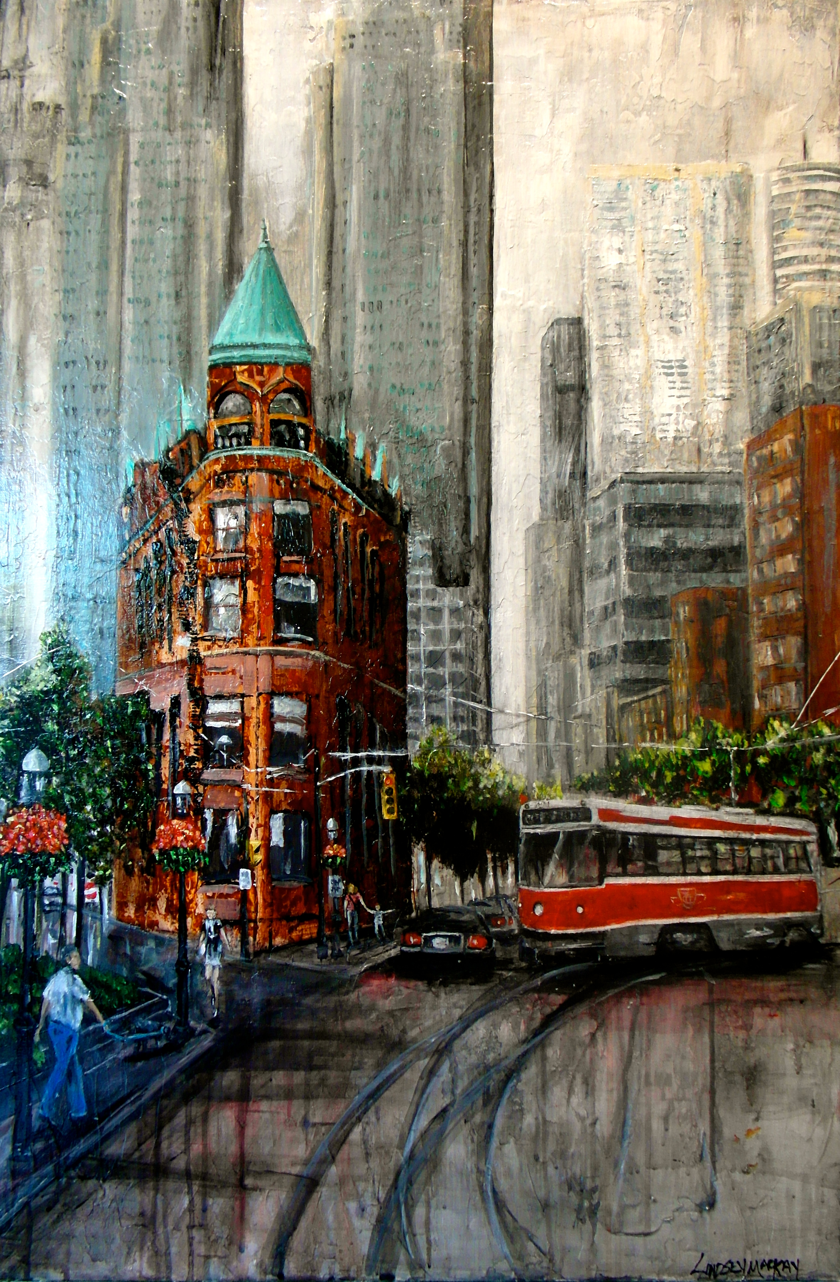 Cityscape painting, Toronto