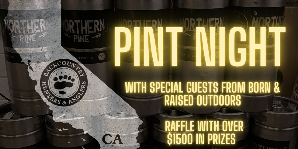 Back Country Hunters & Anglers and Born & Raised Pint Night at Northern Pine Brewing Oceanside
