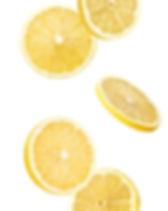 lemon slices isolated on a white backgro