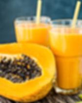 Tropical smoothie with papaya and banana
