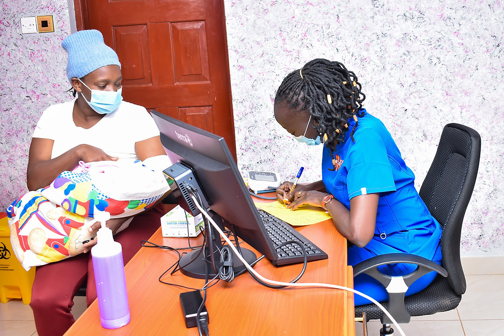 a breastfeeding mother at our facility in Eldoret