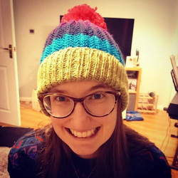Cat in a (knitted) hat!