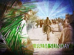 Palm Sunday - 5, Jesus Entering Jerusale