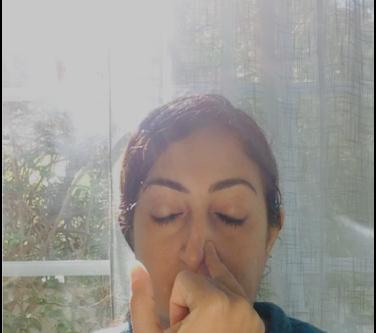 Nadi Shodhana Pranayama: Alternate Nostril Breathing.