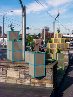 Sculptural Planter Box Installation