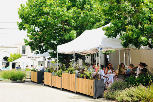 Parklet Dining Deck and Planters
