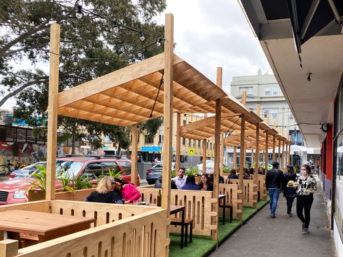 Sister of Soul Parklet with Shade Canopy
