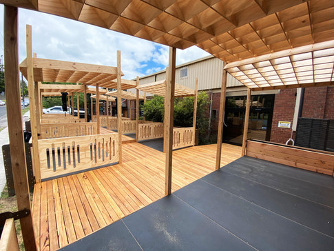 Kindred Studios Stage and Dining Pods
