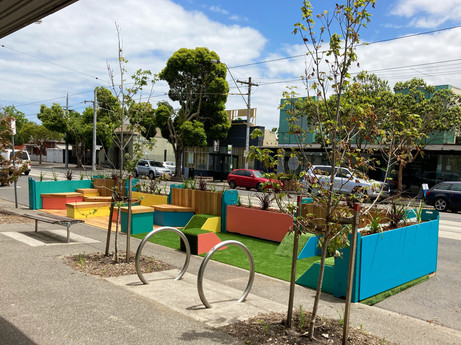 Colourful Mills St Parklet