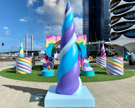 Unicorn Garden Pop-Up Installation, Designed and Constructed by Rightside