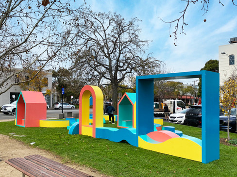 Colourful Pop-Up Playspace