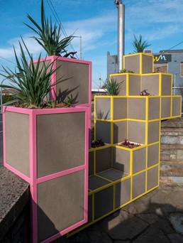 Cube Planter Public Space Activation