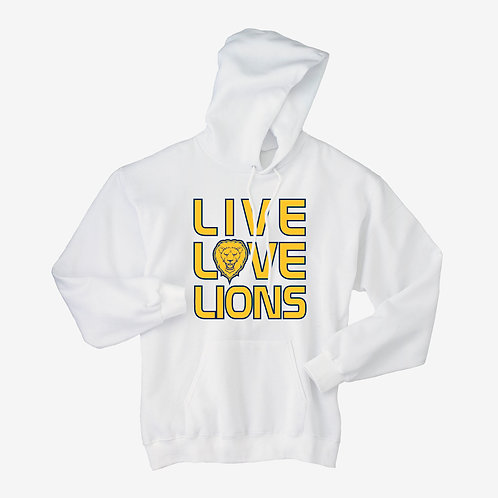 Youth/ Adult Hoodie-Live Love Lions