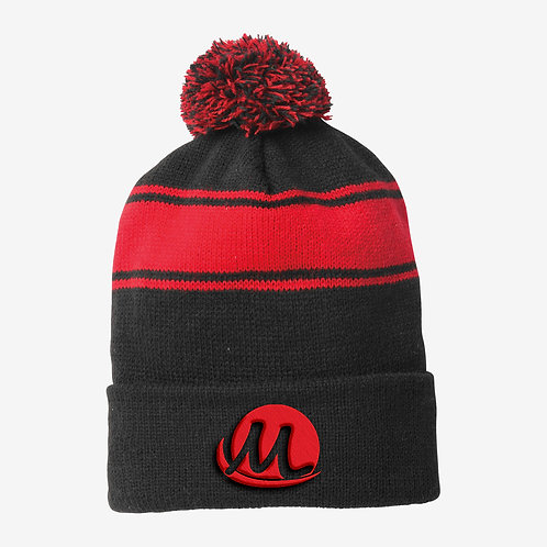Red & Black Beanie Hat