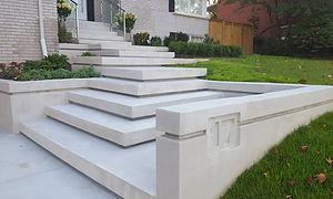 Home landscaping precast concrete steps
