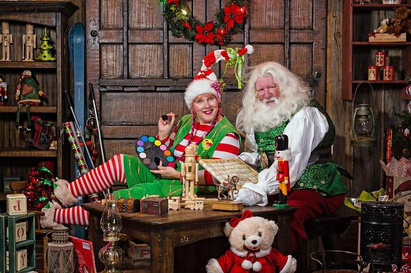 Santa Claus DFW in Dallas TX with Elf