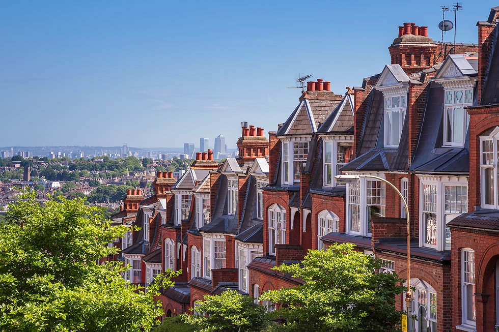 Brick houses of Muswell Hill and panoram