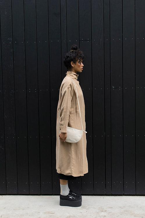 Half Moon Linen Bag
