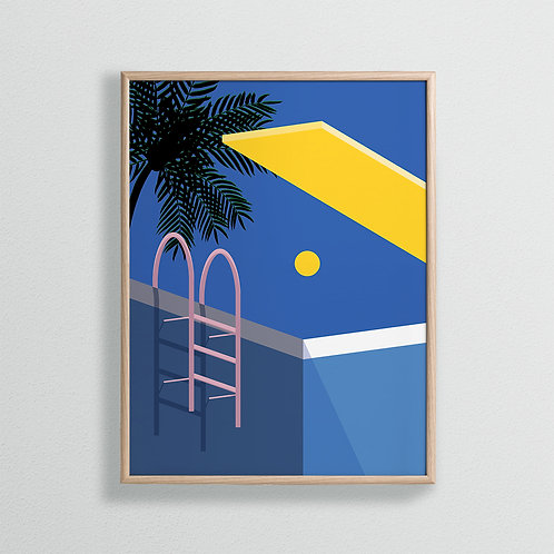 In The Pool Print by Keeler & Sidaway