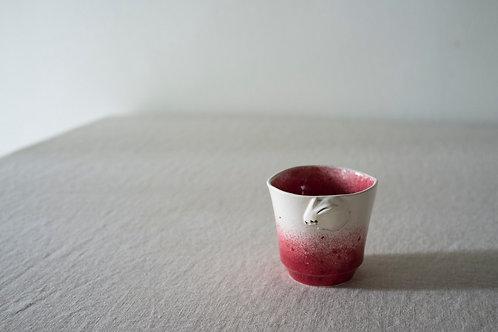 Raspberry Rabbit Cup by Natalia Nechaitchik
