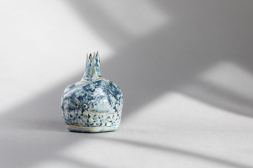 Blue Handmade Ceramic Pomegranate