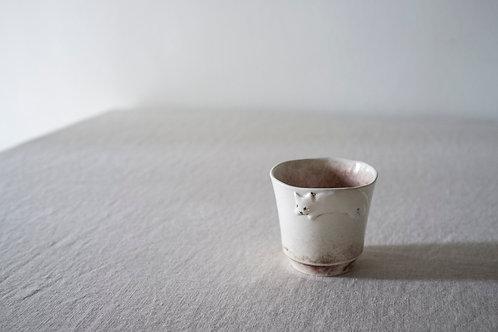 Brown Cat Cup by Natalia Nechaitchik